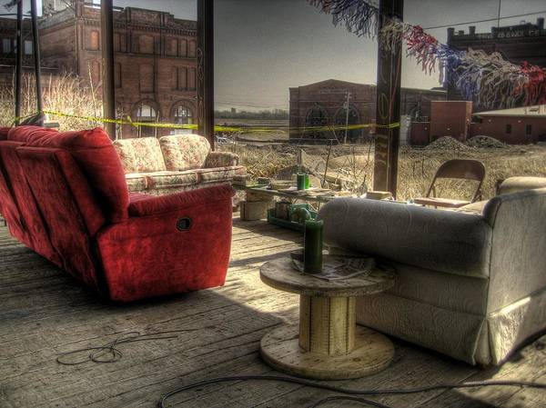 Hdr Poster featuring the photograph North St. Louis Porch by Jane Linders