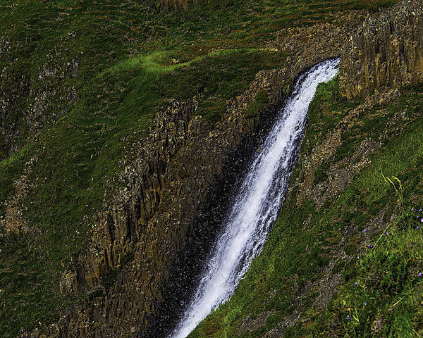 North Table Mountain Ecological Reserve Falls Poster featuring the photograph North Table Mountain Falls by Garry Gay