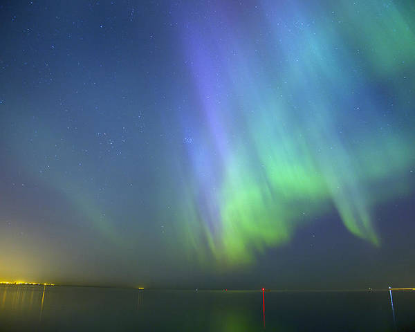 Astronomy Poster featuring the photograph Northern Lights Aurora Borealis In Estonia by Sandra Rugina