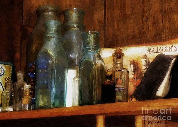 Advertising Poster featuring the painting Nostalgic Eclectica by RC DeWinter