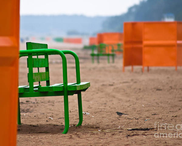Beach Poster featuring the photograph Not A Season by Vadim Grabbe
