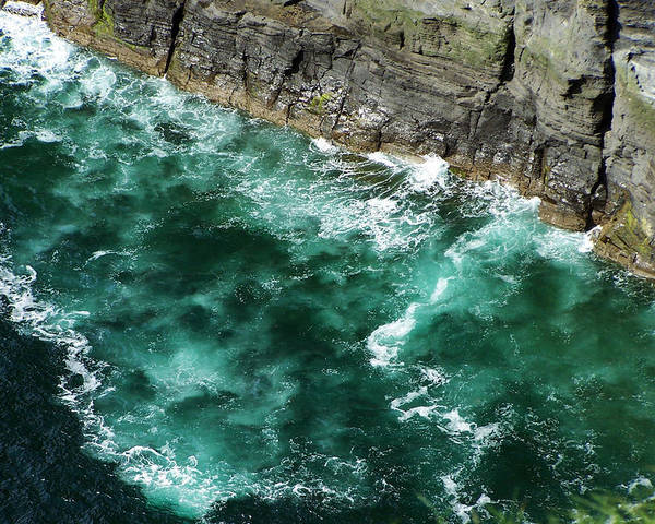 Irish Poster featuring the photograph Nowhere To Go Cliffs Of Moher Ireland by Teresa Mucha