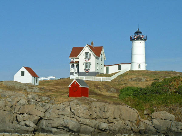 Nubble Poster featuring the photograph Nubble Light by Margie Wildblood