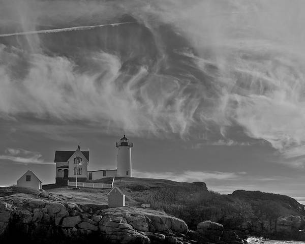 Lighthouse Poster featuring the photograph Nubble Light by Steve Foster