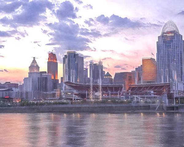 Cincinnati City Scenes Poster featuring the photograph Nubian Skyline Impression by Jim Simpson