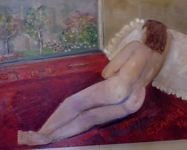 Art Poster featuring the painting Nude- Derriere 1 by Carlos Camus