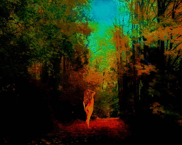Poster featuring the photograph Nude In The Forest by Jeff Burgess