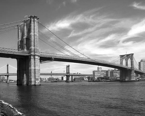 Bridge Poster featuring the photograph Nyc Brooklyn Bridge by Mike McGlothlen