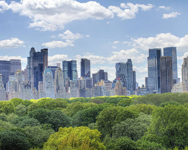 Central Park Poster featuring the photograph Nyc Skyline Day by Ariane Moshayedi