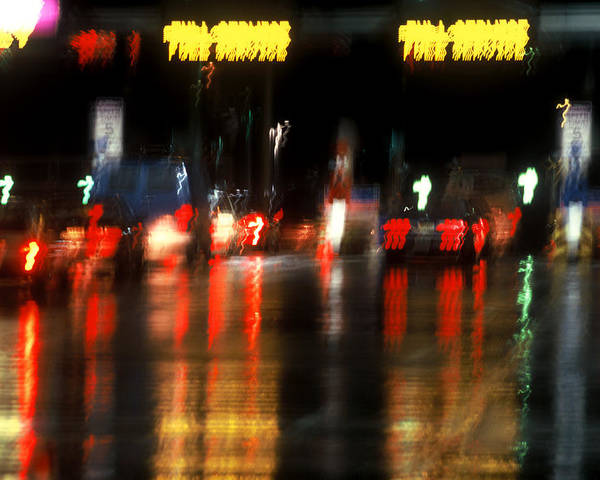 Abstract Poster featuring the photograph Nyc Toll Booth by Brad Rickerby