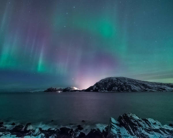 Aurora Borealis Poster featuring the photograph O Holy Night by Tor-Ivar Naess