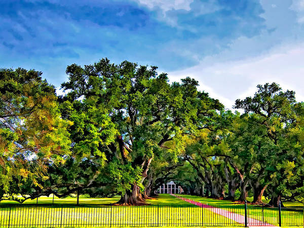 Oak Alley Plantation Poster featuring the photograph Oak Alley Plantation by Steve Harrington