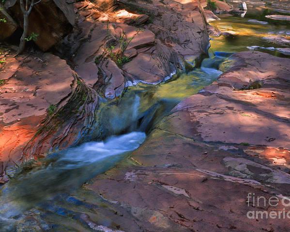 Southwest Poster featuring the photograph Oak Creek Canyon Splendor by Sandra Bronstein