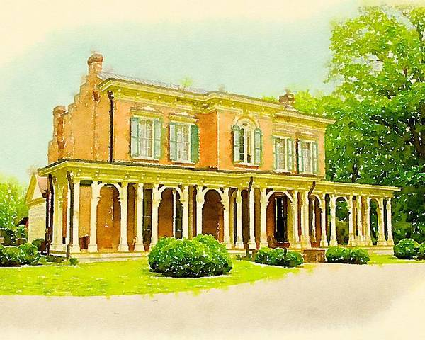 Murfreesboro Poster featuring the digital art Oaklands Mansion by Chip Payne