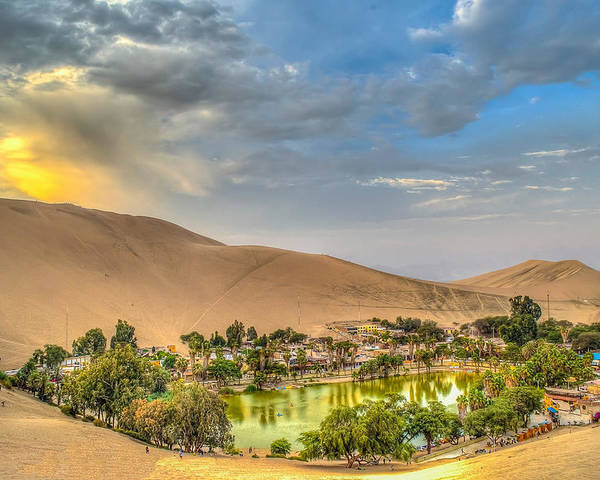 Huacachina Poster featuring the photograph Oasis by Dado Molina