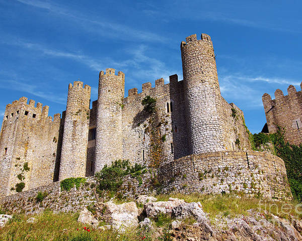 Ancient Poster featuring the photograph Obidos Castle by Carlos Caetano