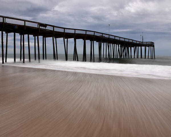 Ocean Poster featuring the photograph Ocean City Pier 3 by Don Keisling