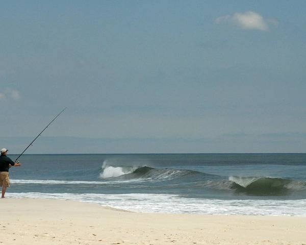 Surf Fishing Poster featuring the photograph Ocean 16 by Joyce StJames