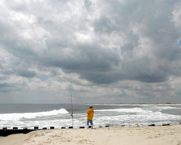 Surf Fishing Poster featuring the photograph Ocean 17 by Joyce StJames