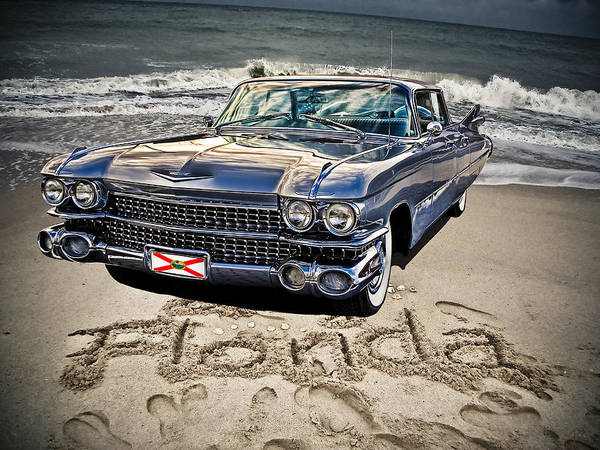 Cadillac Poster featuring the photograph Ocean Drive by Joachim G Pinkawa