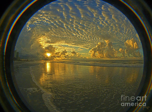 Sunrise Poster featuring the photograph Oceanview by Jeff Breiman