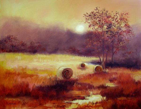 Fall Landscapes Poster featuring the painting October Pasture by Ginger Concepcion