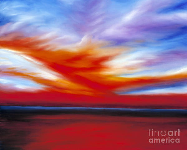 Seascape Poster featuring the painting October Sky II by James Christopher Hill