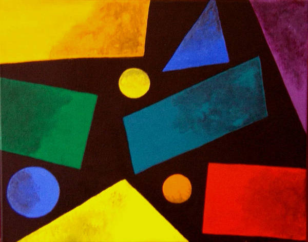 Abstract Poster featuring the painting Odd Man Out by Linda Powell