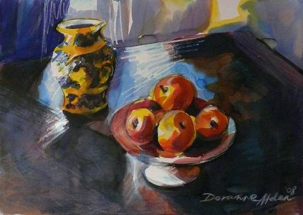 Watercolour Poster featuring the painting Ode To Cezanne by Doranne Alden