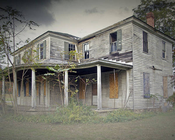 2d Poster featuring the photograph Odenton House by Brian Wallace