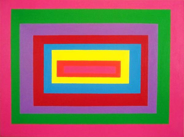 Abstract Poster featuring the painting Of Equal Or Lesser Value Number Five by Ricky Gagnon