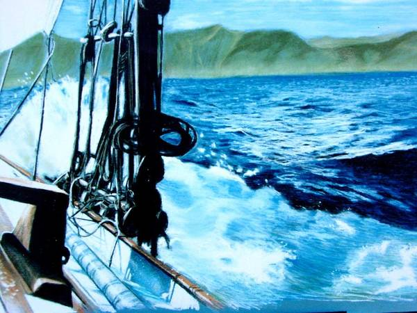 Seascape Poster featuring the painting Off Maui by Paul Miller
