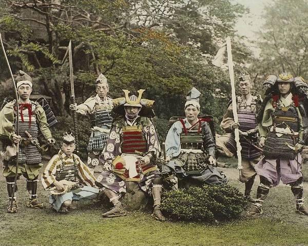 Man Poster featuring the painting Ogawa, Kazumasa Sights And Scenes In Fair Japan. by Ogawa Kazumasa