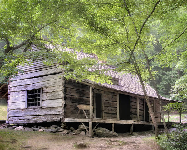 Rustic Poster featuring the photograph Ogle Homestead - Smoky Mountain Rustic Cabin by Expressive Landscapes Fine Art Photography by Thom