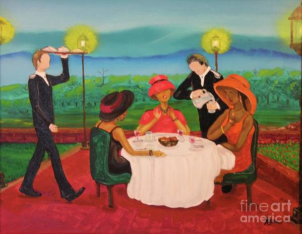 Ethnic Poster featuring the painting Oh My by Barbara Hayes