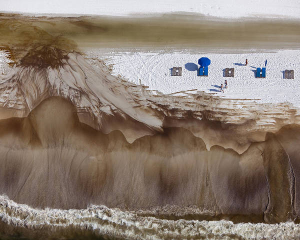 Outdoors Poster featuring the photograph Oil-covered White Sands Of Orange Beach by Tyrone Turner