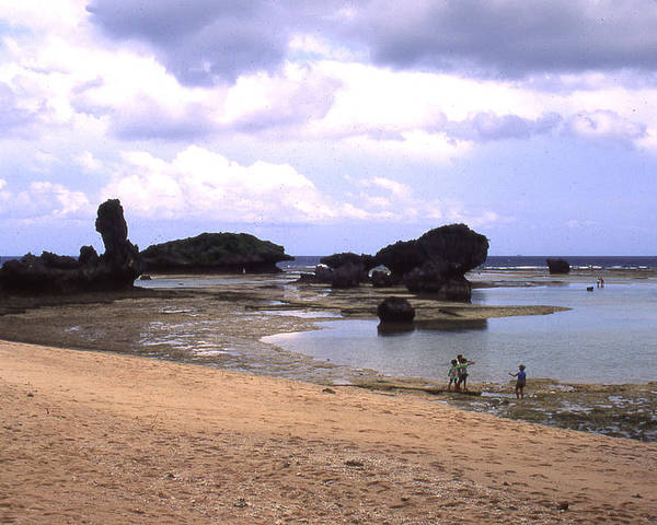 Okinawa Poster featuring the photograph Okinawa Beach 18 by Curtis J Neeley Jr