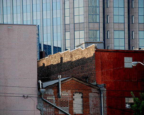 Nashville Poster featuring the photograph Old And New Close Together by Susanne Van Hulst