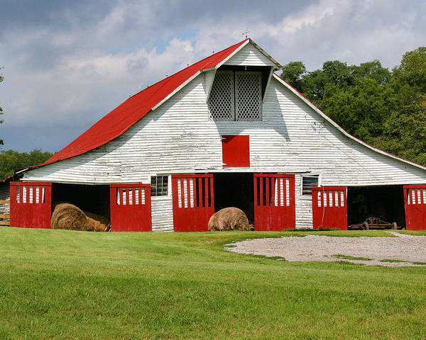 Barn Poster featuring the photograph Old Barn by Kristin Elmquist