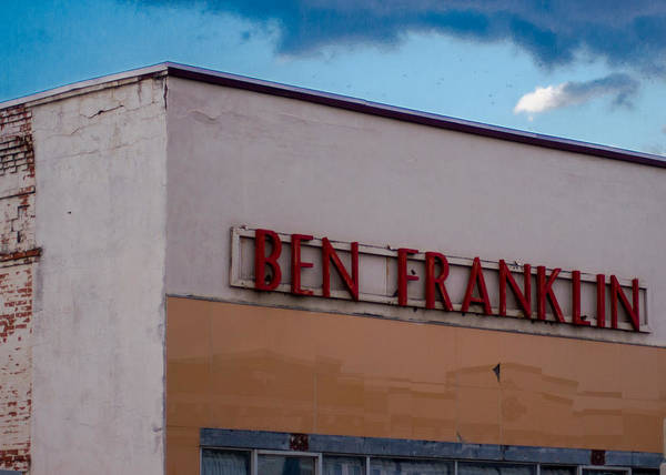 Vanishing Texas Poster featuring the photograph Old Ben Franklin Store 2 #vanishingtexas Rosebud by Trace Ready