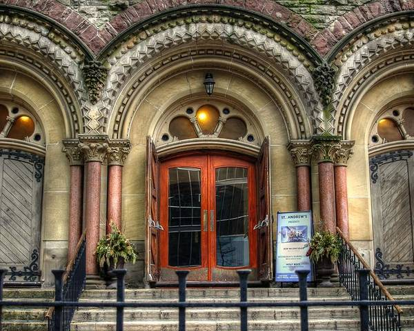 Rcouper Poster featuring the photograph Old Church Entrance by Rick Couper