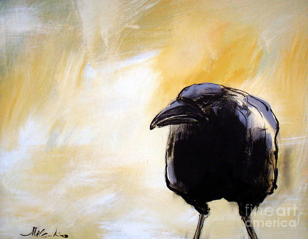 Crow Poster featuring the painting Old Crow by Milenko Katic