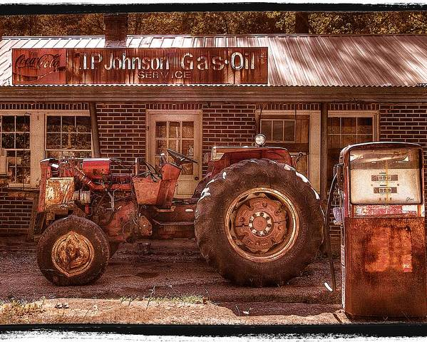 Appalachia Poster featuring the photograph Old Days Vintage by Debra and Dave Vanderlaan