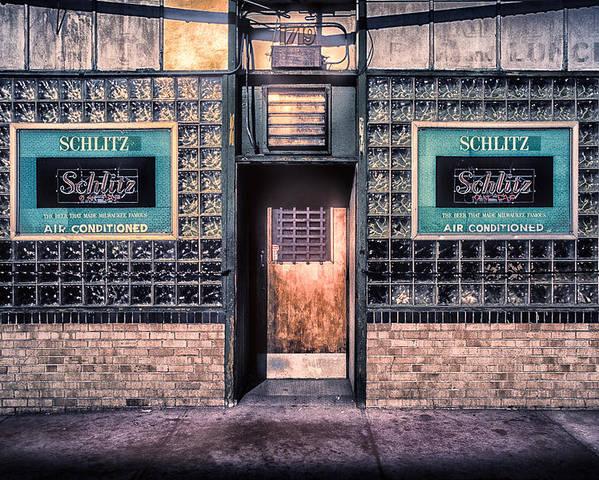 Old Denver Bar Front Door Poster By John Brink