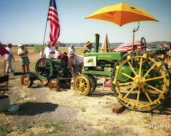 Farm Poster featuring the photograph Old Farm Tractor by Ted Pollard
