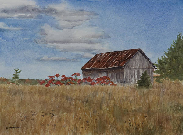 Farm Poster featuring the painting Old Farmer's Barn by Debbie Homewood