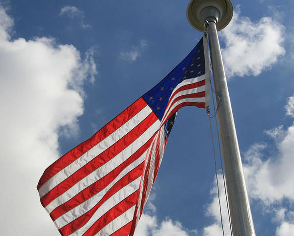 Flag Poster featuring the photograph Old Glory 1 by Bob Gardner