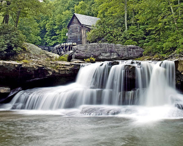 Glade Creek Poster featuring the photograph Old Grist Mill In Babcock State Park West Virginia by Brendan Reals