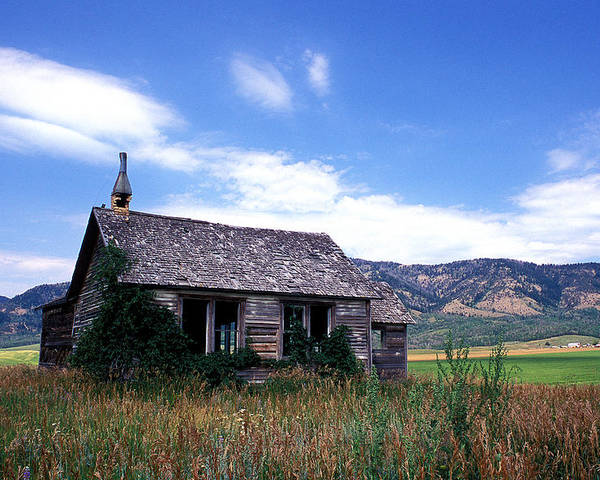 House Poster featuring the photograph Old House In Idaho by Kathy Yates