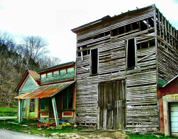 Ghost Towns Poster featuring the photograph Old Leavenworth Indiana Ghost Town II by Julie Dant